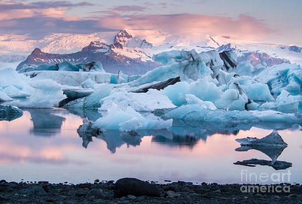 Wall Art - Photograph - Jokulsarlon Glacier Lagoon, Iceland by Adellyne
