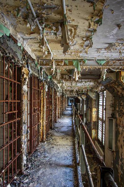 Wall Art - Photograph - Joliet Prison Cellblock by Mike Burgquist