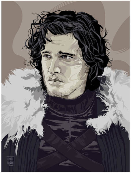 Wall Art - Digital Art - Jon Snow by Garth Glazier