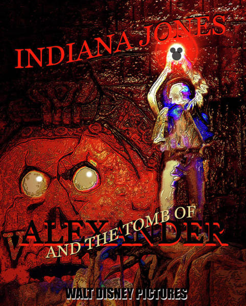Wall Art - Mixed Media - Indiana Jones 5 The Tomb Of Alexander  by David Lee Thompson
