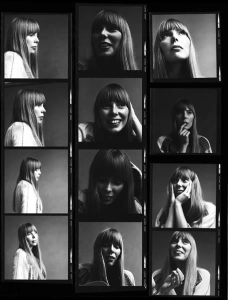 Sheet Music Photograph - Joni Mitchell Contact Sheet by Jack Robinson