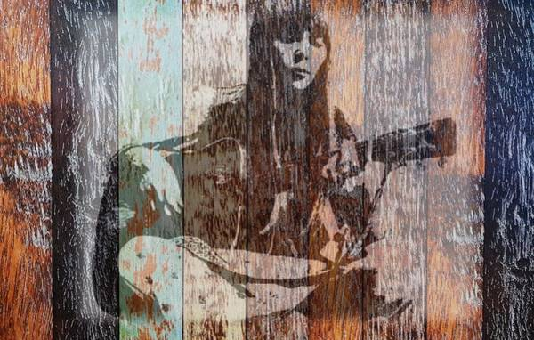 Mixed Media - Joni Mitchell by Jayime Jean