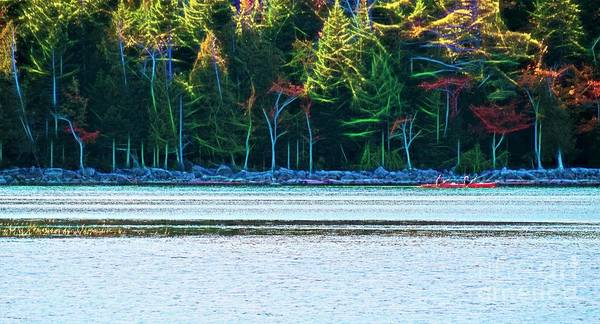 Photograph - Jordan Pond Kayak by Patti Whitten