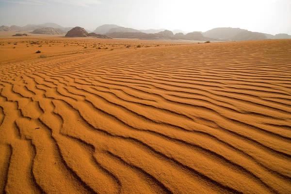Sand Photograph - Jordan Wadi Rum Sand Dunes Pattern by Jason Jones Travel Photography