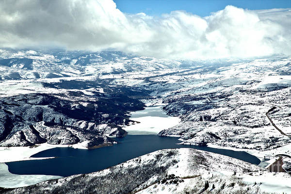 Photograph - Jordanelle Reservoir Winter Wonderland by Adam Jewell