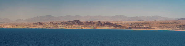 Photograph - Jordanian Mountains Of Wadi Rum From The Gulf Of Aqaba by William Dickman