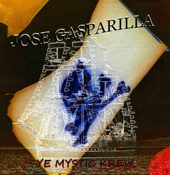 Wall Art - Painting - Jose Gasparilla With Skull And Cross Bones by David Lee Thompson