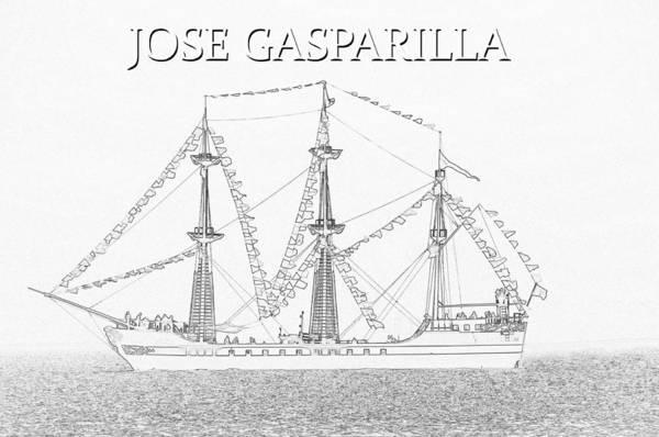Wall Art - Drawing - Jose Gasparilla Work B by David Lee Thompson