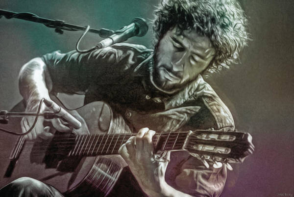 Folk Singer Mixed Media - Jose Gonzalez by Mal Bray