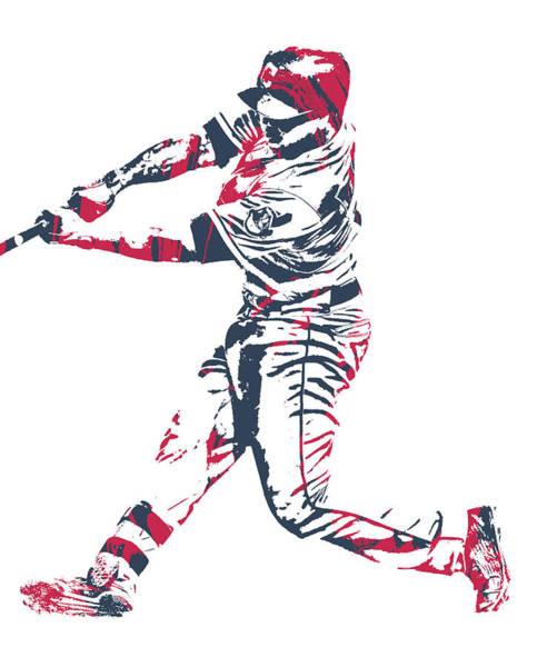 Wall Art - Mixed Media - Jose Ramirez Cleveland Indians Pixel Art 10 by Joe Hamilton