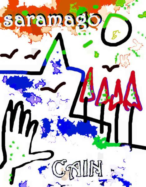 Drawing - Jose Saramago Cain Poster  by Paul Sutcliffe