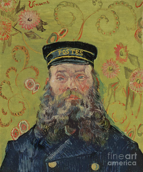 Wall Art - Painting - Joseph-etienne Roulin, 1889  by Vincent Van Gogh