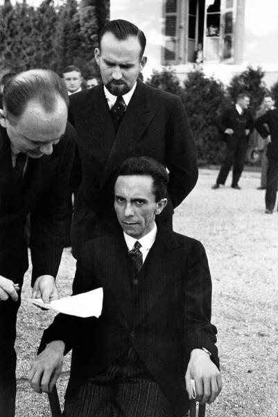 Switzerland Photograph - Joseph Goebbelspaul Schmidt by Alfred Eisenstaedt