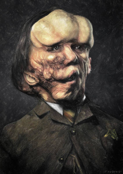 Wall Art - Painting - Joseph Merrick - Elephant Man by Zapista Zapista