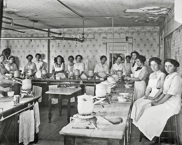 Painting - Joseph Pennell - Chapman High School Home Economics Class In Session, 1913 by Celestial Images
