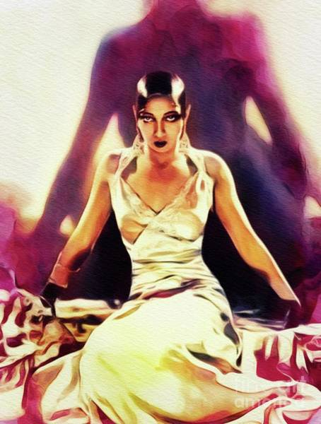 Wall Art - Painting - Josephine Baker, Vintage Entertainer, Activist And Resistance Agent by John Springfield
