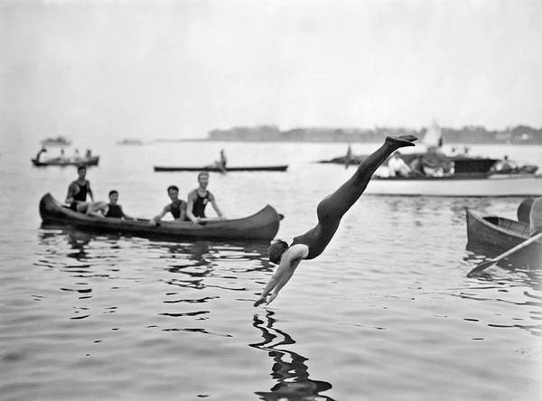 Painting - Josephine Bartlett At Women's Swimming Contests At Sheepshead Bay, Brooklyn, New York City, July 16, by Celestial Images
