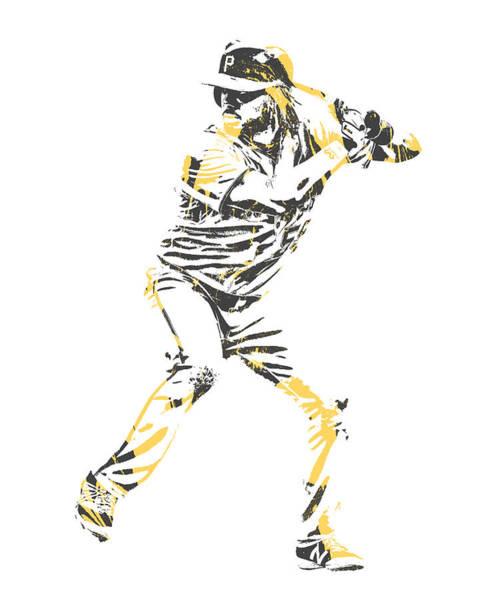 Wall Art - Mixed Media - Josh Bell Pittsburgh Pirates Pixel Art 1 by Joe Hamilton