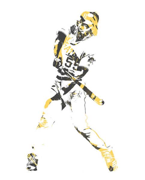Wall Art - Mixed Media - Josh Bell Pittsburgh Pirates Pixel Art 2 by Joe Hamilton