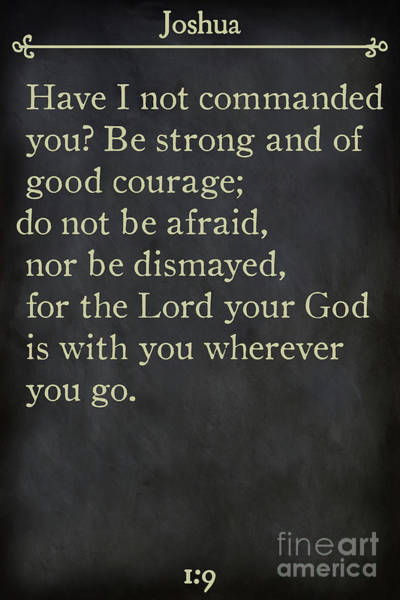 Painting - Joshua 1 9- Inspirational Quotes Wall Art Collection by Mark Lawrence