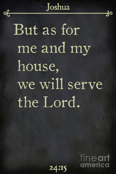 Painting - Joshua 24 15-bible Verse Wall Art Collection by Mark Lawrence