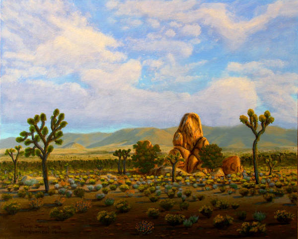 Wall Art - Painting - Joshua Tree Rocks by Mark Junge