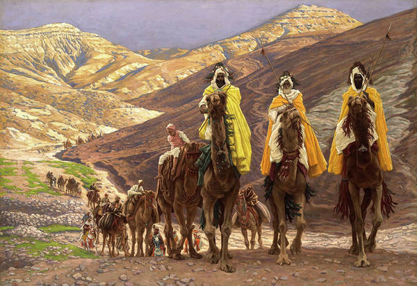 Wall Art - Painting - Journey Of The Magi by James Tissot