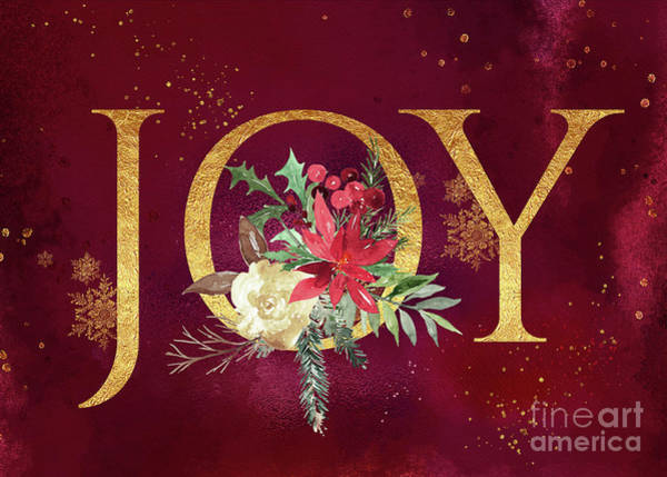Digital Art - Joy Holiday Art  by Anita Pollak