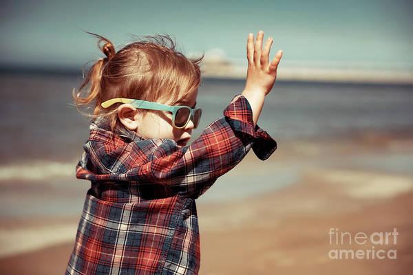 Wall Art - Photograph - Joyful Baby On The Beach by Anna Om