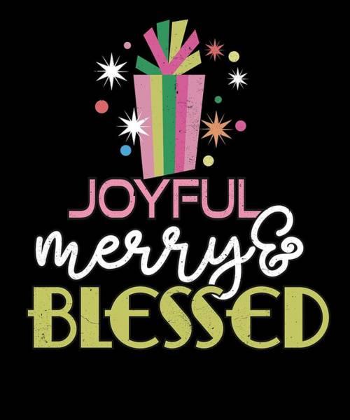 Ugly Digital Art - Joyful Merry Blessed Christmas Present by Passion Loft