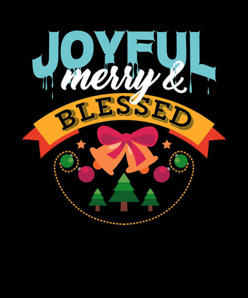 Ugly Digital Art - Joyful Merry Blessed Christmas Tree Bells by Passion Loft