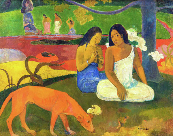 Wall Art - Painting - Joyfulness - Digital Remastered Edition by Paul Gauguin