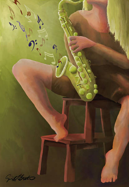 Digital Art - Joys Of The Saxophone by April Burton