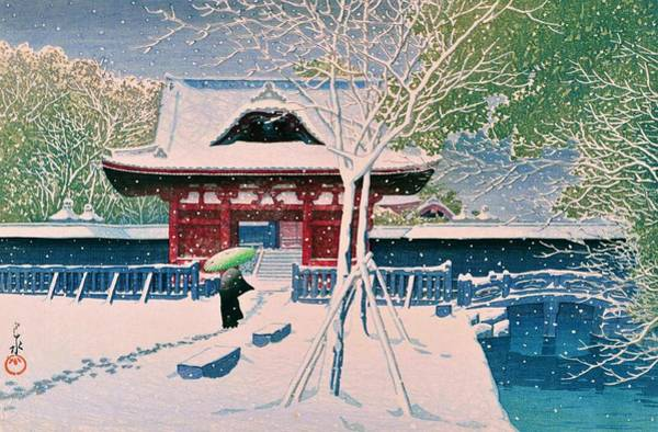 Believers Painting - Jozoji - Top Quality Image Edition by Kawase Hasui