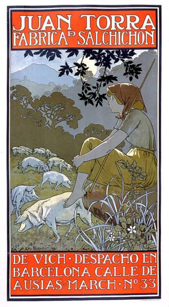 Painting - Juan Torra Fabrica Salchicon Vintage French Advertising by Vintage French Advertising