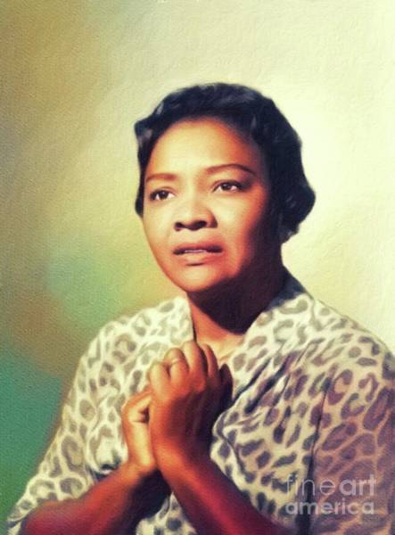 Wall Art - Painting - Juanita Moore, Vintage Actress by John Springfield