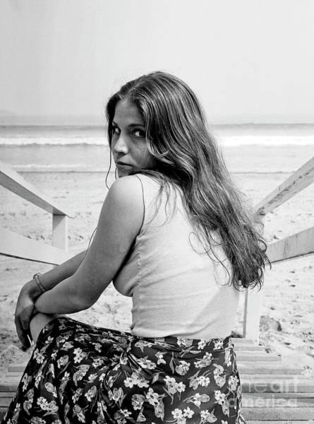 Photograph - Juanita - Hot High School Babe - Santa Monica Beach - Circa 1974 by Doc Braham