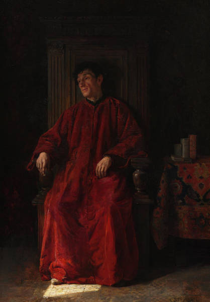 Wall Art - Painting - Judge In Red Robe, 1890 by Adolphe Charles Edouard Steinheil