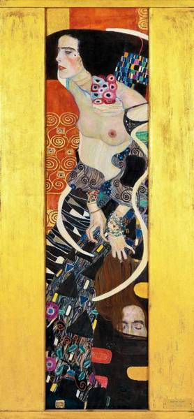 Heart Gold Painting - Judith II - Digital Remastered Edition by Gustav Klimt