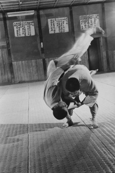 Practice Photograph - Judo Practice In Japan by Larry Burrows