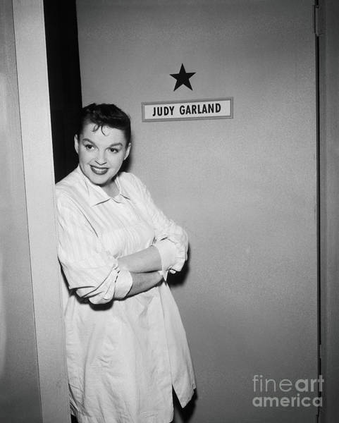 Photograph - Judy Garland Stands Outside Her by Cbs Photo Archive