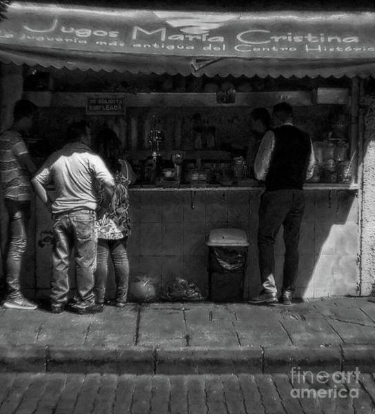 Photograph - Juice Stand In Old Mexico by John Kolenberg