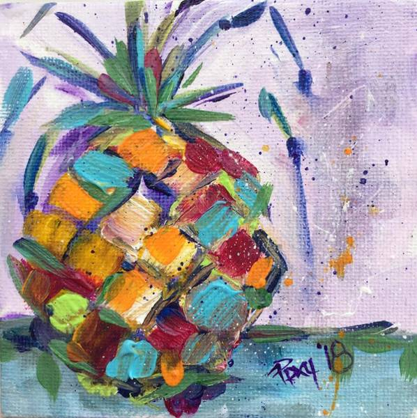 Still Life Painting - Juicy Pineapple by Roxy Rich