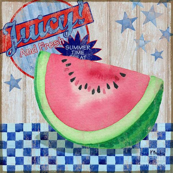 Melon Painting - Juicy Watermelon II by Paul Brent