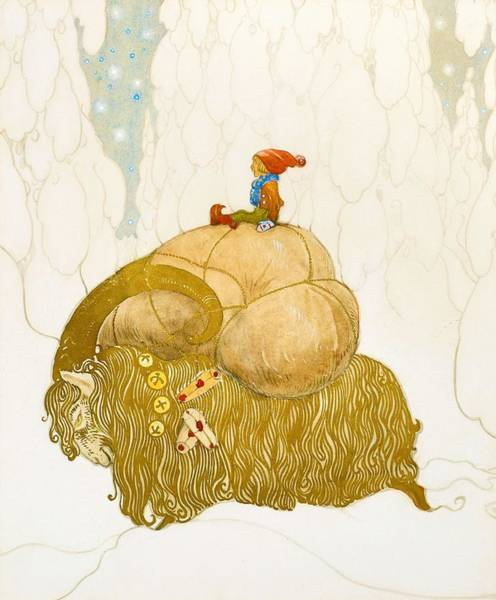 Wall Art - Painting - Julbocken - Digital Remastered Edition by John Bauer