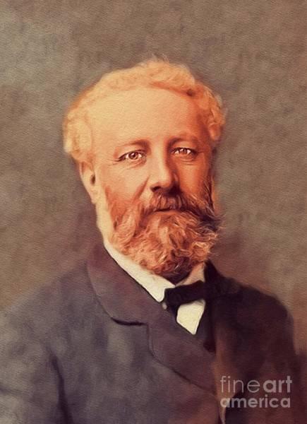 Jules Verne Wall Art - Painting - Jules Verne, Literary Legend by John Springfield