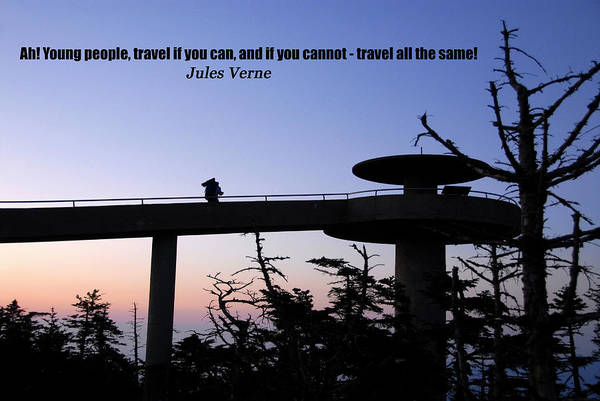 Wall Art - Photograph - Jules Verne Travel Quote by David Lee Thompson