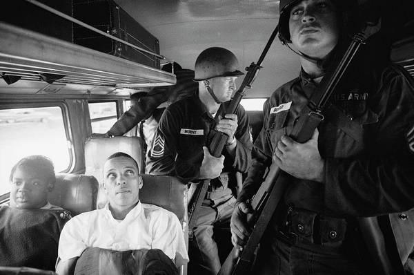 National Guard Photograph - Julia Aarondavid Dennis by Paul Schutzer