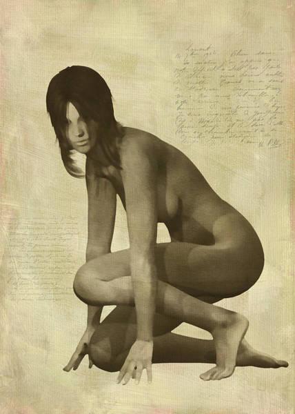 Digital Art - Julia Kneeling by Jan Keteleer