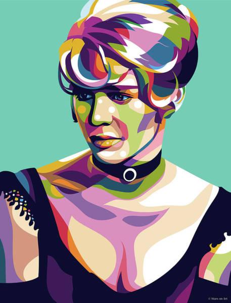 Digital Art - Julie Christie by Stars on Art